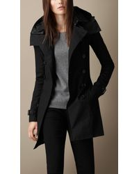 Burberry Hooded Trench Coat With Warmer - Lyst