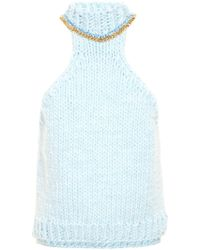 Wool And The Gang - Chain Neck Knit Top - Lyst