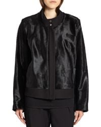 Helmut Lang Lucent Calf Hair Jacket - Lyst