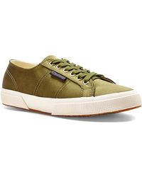 Superga X The Man Repeller Olive Satin Sneakers - Lyst