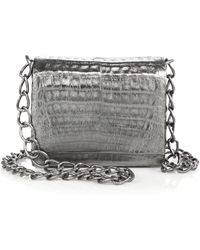 Nancy Gonzalez Small Metallic Crocodile Crossbody Bag - Lyst