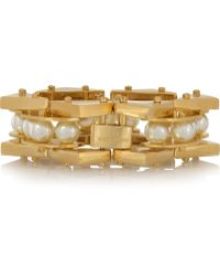 Lele Sadoughi - Pearl Satellite Gold-Plated Faux Pearl Bracelet - Lyst