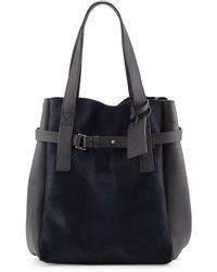 Marni Calf Hair  Leather Tote Bag - Lyst