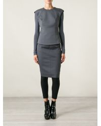 Gareth Pugh Gray Structured Top - Lyst