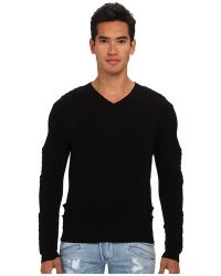Pierre Balmain Motor Panel Vneck Sweater - Lyst