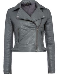 Label Lab Bubble Textured Pu Biker Jacket - Lyst