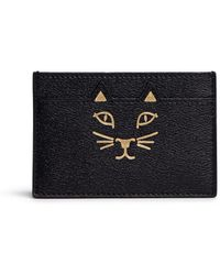 Charlotte Olympia   'feline' Cat Face Leather Card Holder   Lyst