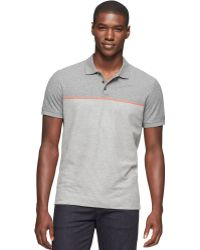 Calvin Klein Engineered Striped Polo - Lyst