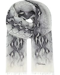 Roberto Cavalli Snake Print Cashmere Shawl - For Women - Lyst