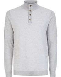 Aquascutum Tristan Button Sweater white - Lyst