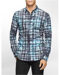 Calvin Klein | Jeans Slim Fit Diffused Ribbon Print Shirt | Lyst