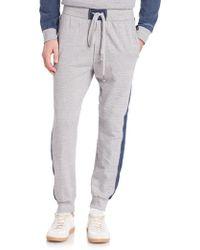DIESEL | Massi Athletic Denim-trim Trousers | Lyst