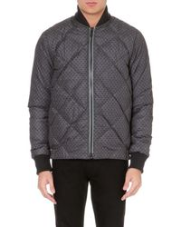 Paul Smith Quilted Printed Bomber - Lyst