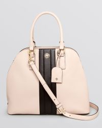 Tory Burch Satchel Robinson Stripe Open Dome - Lyst