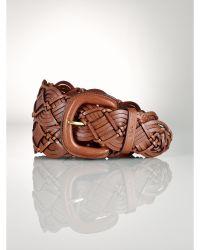 Ralph Lauren Braided Leather Belt - Lyst