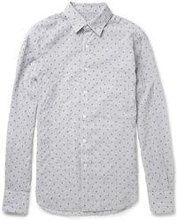 Slowear - Glanshirt Slimfit Seersucker Cottonblend Shirt - Lyst