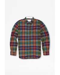 French Connection Essential Brushed Twill Check Shirt - Lyst