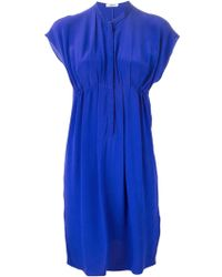 Cacharel Simple Empire Line Dress blue - Lyst