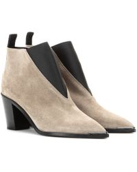 Acne Studios Silo Suede Ankle Boots - Lyst