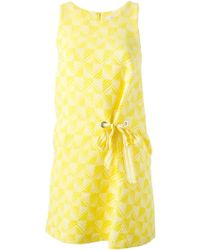 Paul by Paul Smith - Tie-Detail Jacquard Dress - Lyst