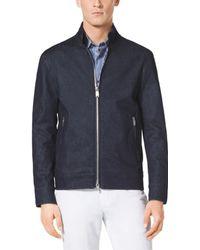Michael Kors Zip-Front Stretch-Cotton Jacket - Lyst