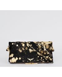 Zadig & Voltaire Rock Gold Clutch - Lyst