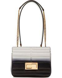 Elie Saab Quilted Calfskin Bicolor Shoulder Bag in Blackgardenia - Lyst