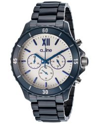 A_line - Marina Chronograph Navy Blue Ceramic Light Silver-tone Dial - Lyst