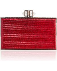 Judith Leiber Couture Coffered Rectangle Box Clutch Bag - Lyst