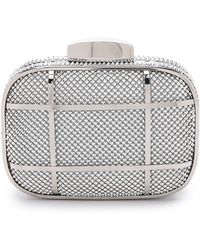 Whiting & Davis Cage Minaudiere Clutch - Silver - Lyst