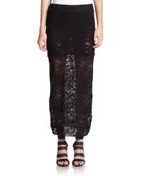 IRO Embroidered Lace Maxi Skirt - Lyst