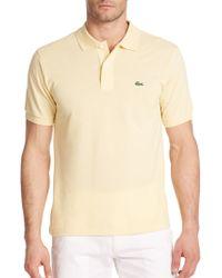 Lacoste Cotton Polo Shirt - Lyst
