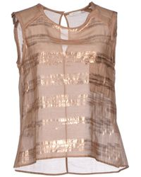 Gold Case Top - Lyst