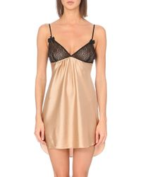 Stella McCartney Beige Stretch-silk Chemise - Lyst