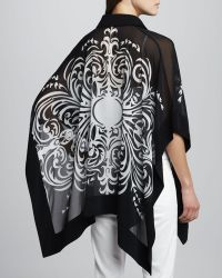 Grayse - Swirlprint Silk Cape - Lyst