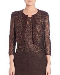 Kay Unger | Metallic Tweed & Lace Jacket | Lyst