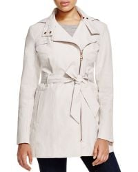 Vince Camuto - Asymmetric Zip Front Trench Coat - Lyst