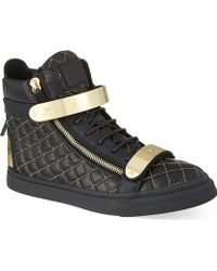 Giuseppe Zanotti Double Bangle Quilted Hi-top Trainers - For Men - Lyst