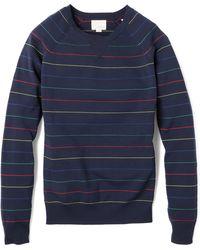 Band Of Outsiders Multicolor Pinstripe Raglan Sweatshirt - Lyst