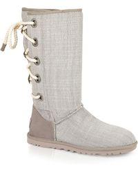 Ugg Ugg® Australia Boots - Harbour Tweed Laceup beige - Lyst
