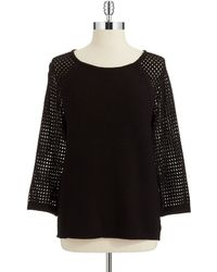 Jones New York Raglan Sleeved Sweater - Lyst