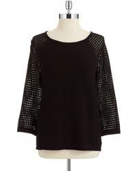 Jones New York Raglan Sleeved Sweater - Lyst