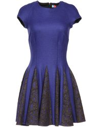 MSGM Purple Short Dress - Lyst