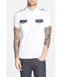 Diesel 'Angi' Extra Trim Fit Polo - Lyst