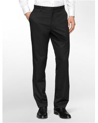 Calvin Klein Straight Fit Pinstripe Dress Pants - Lyst