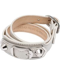 Balenciaga Classic Metallic Edge Bracelet - Lyst