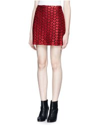 Alice + Olivia Riley Heart Embroidery Skirt - Lyst