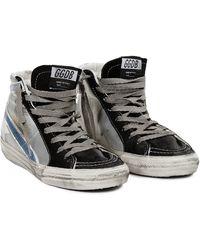 Golden Goose Deluxe Brand Black Slide Sneaker - Lyst