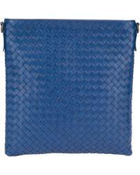 Bottega Veneta Woven Messenger Bag - Lyst