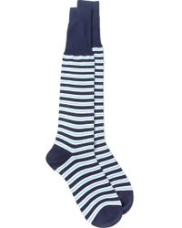Canali - Long Striped Socks - Lyst